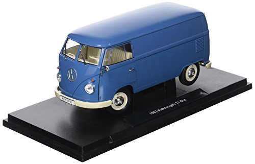 Welly – 18053bl – Volkswagen T1 Bus Panel Van – 1963 – Echelle 1/18 – Blau (Volkswagen T1 Panel-bus)