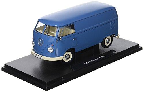Welly–18053bl–Volkswagen T1Bus Panel Van–1963–Echelle 1/18–Blau (Volkswagen T1 Panel-bus)
