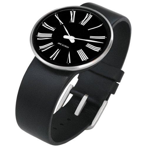 Rosendahl 43438 - Reloj analógico unisex de cuarzo con correa de piel negra