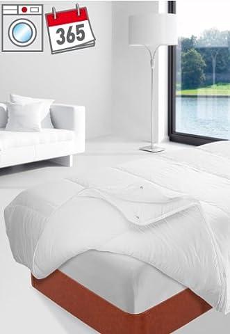 Savel – Couette en Fibre 2 en 1 (125g/m2+250g/m2), 4 Saisons - 240x220cm – disponible en plusieurs dimensions