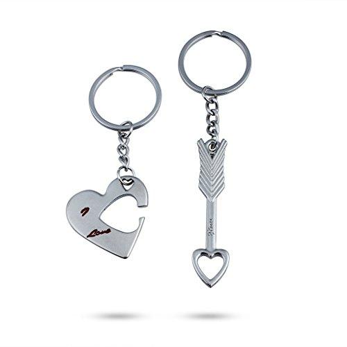 1 PC neue Amors Pfeil Romantic Kreative Hochzeits-Paare Keychain Liebes-Herz-Schlüsselanhänger Valentinstag