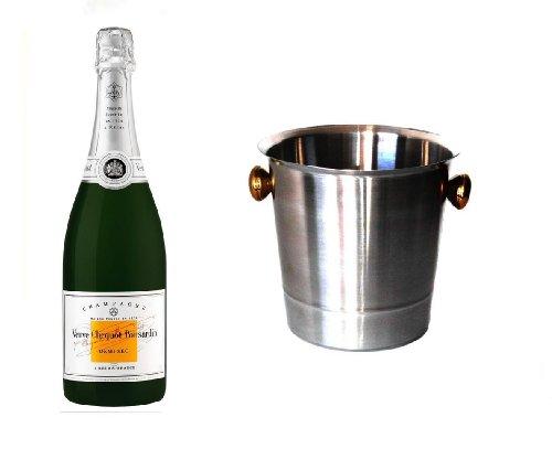 Veuve Clicquot Champagner Demi Sec im Champagner Kühler 12% 0,75 l. Fl.