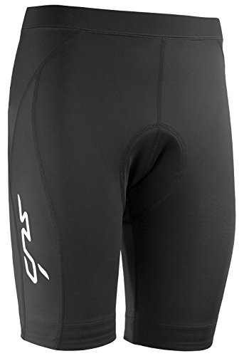 DUAL Damen Kompressionsradlerhose – 6-Panel-Shorts - Schwarz - M