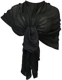 buy popular 4b502 baf88 Amazon.it: coprispalle donna elegante nero - Nero / Sciarpe ...