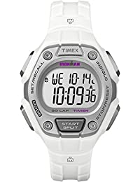 Timex Unisex Quartz Watch with LCD Dial Digital Display and White Resin Strap TW5K89400