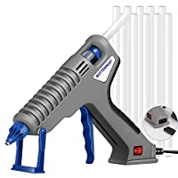 Hot Glue Gun, BOTTERRUN 120W Professional Full Size Hot Melt Glue Gun Kit with Adhesive Glue Sticks and Comfort Handle, Quick Heating for DIY Arts Crafts Carpets Sealing School Home Repairs