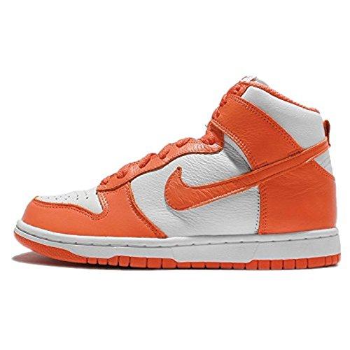 Nike Damen Wmns Dunk Retro QS Turnschuhe, Weiß (White/Orange Blaze), 39 EU (Dunk Schuhe Frauen)
