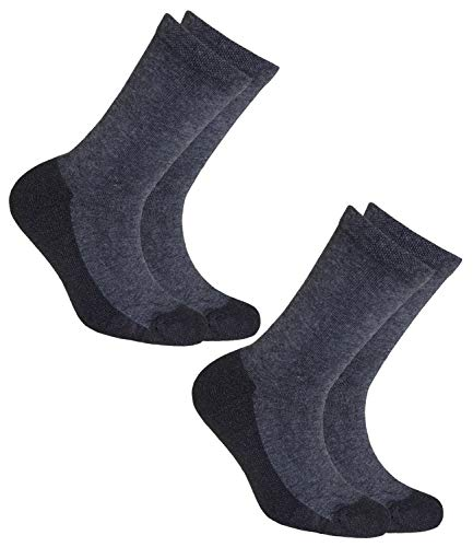 EveryKid Ewers 2er Pack Jungensocken Sparpack Markensocken Thermosocken Socke Kleinkind ganzjährig Kinder (EW-25078-W18-JU0-2700-2700-39/42) in Anthrazit-Anthrazit, Größe 39/42 inkl Fashionguide
