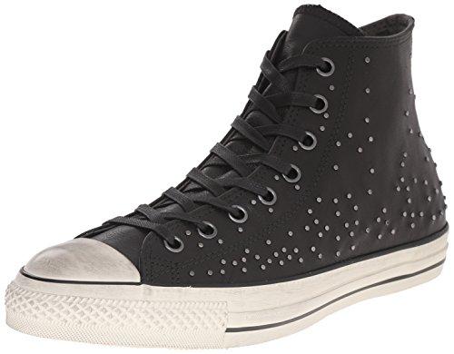 Converse John Varvatos Leather Mini Stud Hi Top Sneaker (151295C) (Mens 10 Womens 12) (John Schuhe Varvatos)