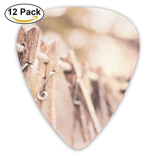 Clothes Rack Laundry Retro Ancient Times Guitar Pick 12pack -