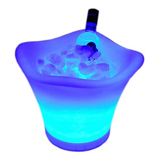 Eiskübel Eiskühler EIS Eimer Sektkühler LED Eiskübel Farbwechsel Eiskübel - Champagner, Bierfass - Fernbeleuchtung 16 Farben - Akku - Bar, Nachtclub, Party