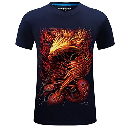 Weste Bluse T-Shirt Tops Herren Neue Sommer Gedruckt Lässige Short Große Größe Rundhals T-Shirt Tops