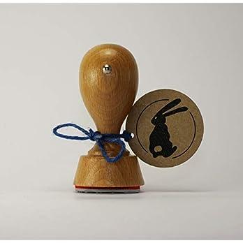 Osterhasen Stempel (rund) 40mm Durchmesser
