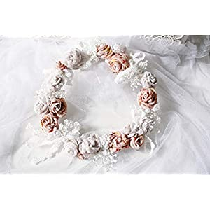 Blumenkranz Altrosé UNIKAT handmade