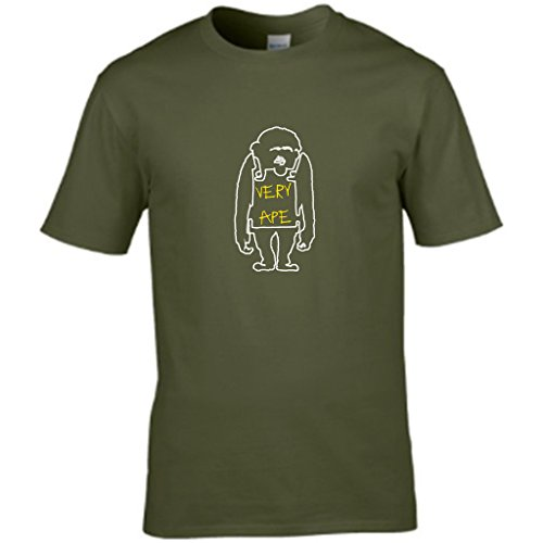 S Tees -  T-shirt - Collo a U  - Maniche corte - Uomo Verde