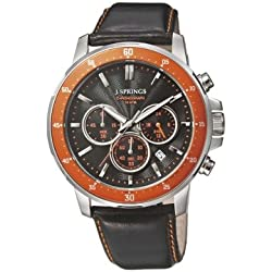 J. Springs Men's Sports Quartz Watch chronograph Leather BFC005