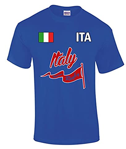 Six Nations Rugby Supporter Youth T-Shirt - Italy - X-Large - 11-12 Years