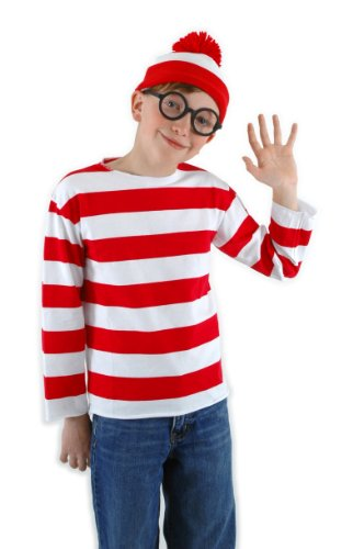 Waldo Kostüm Kit - Elope Wheres Waldo Youth Costume Kit,