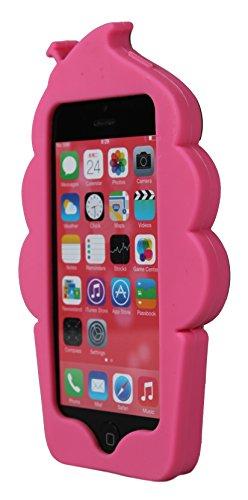 Cornet de crème glacée en caoutchouc silicone nouveau cas 3D couvrir pour Apple iPhone 6, 6s et plus (Rose) © Sloth Cases Hot Pink