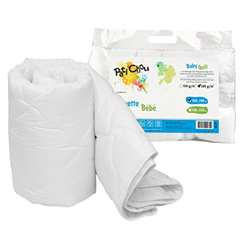Pati'Chou Couette douce et chaude d'hiver tissu 100% coton 80x120 cm (pour lit ou berceau bébé)