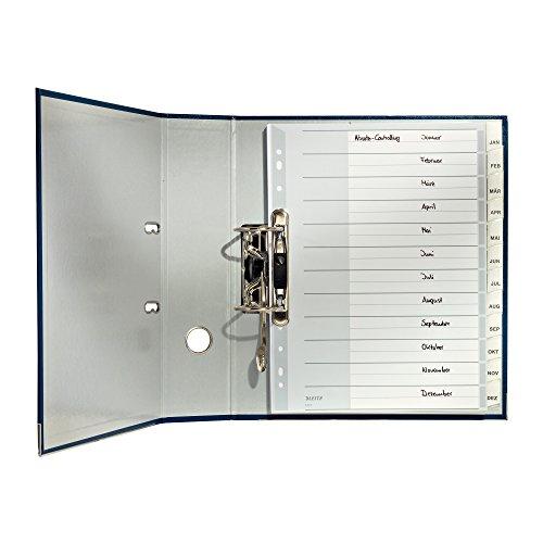 Preisvergleich Produktbild Leitz 12740000 Plastikregister Blanko, A4, PP, 12 Blatt, grau