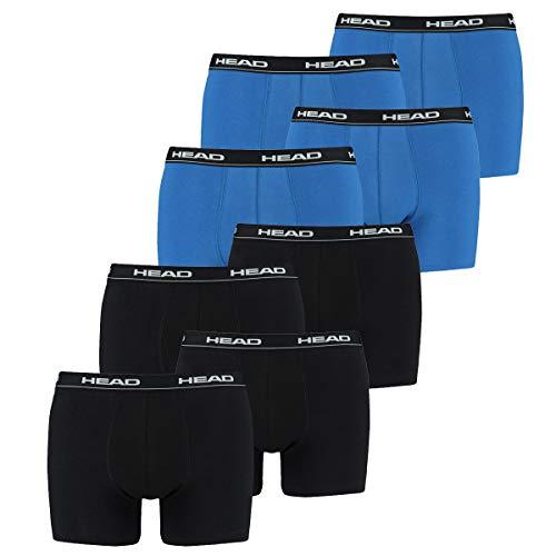 HEAD Men Boxershort 841001001 Basic Boxer 8er Pack, 4x Black 4x Blue/Black, L - Mans Leben