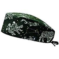 Modelo: ZODIACO - Verde - Gorro de Quirófano ROBIN HAT - Pelo Corto - Ajustable - 100% algodón (Autoclave)
