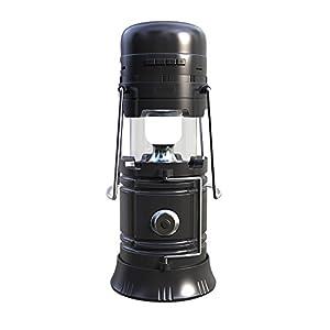Virtoba Camping Lanterna Solare, Torcia Elettrica Portatile Lampada Esterna Ricaricabile con Altoparlante Bluetooth USB Banca di Potere Radio FM Incorporata In