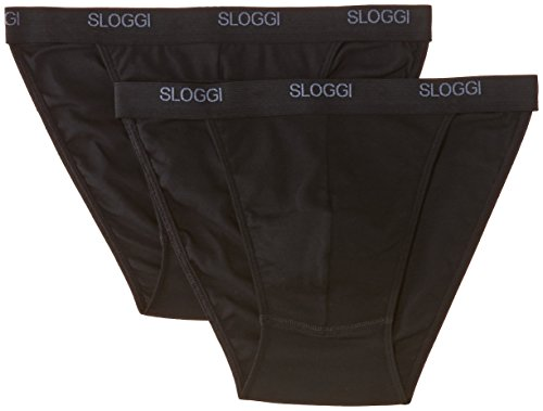 Sloggi - Sloggi Men Basic Tanga Brief, slip uomo, 2 pezzi, Nero, X-Large