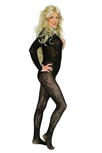 warz für Damen | Einheitsgröße| 1-teiliges Spinnenkostüm für Karneval | Spinne Faschingskostüm für Frauen (Spinne Kostüm Frauen)