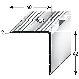Aluminium Treppenwinkel-Profil - 100cm, 42x40mm Rutschhemmend Leichte Montage