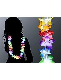 60 Piéces Hawaii Colliers Hula Colliers fleurs Multi HK-02