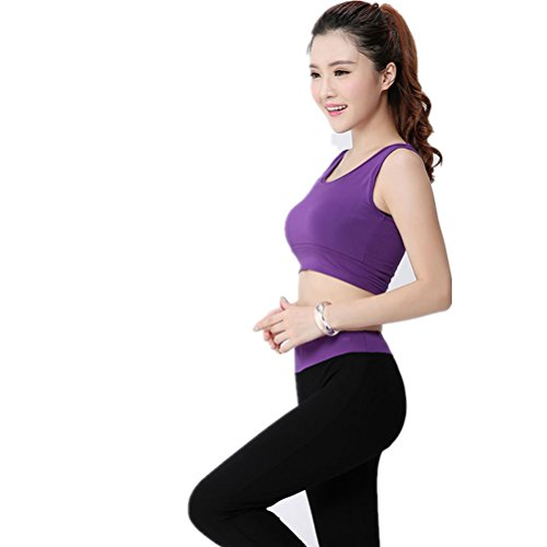shiyuan Femme Sport Soutien-gorge de sport de yoga de fitness stretch pour femme Violet