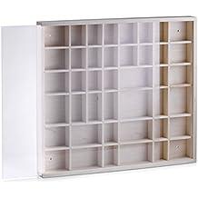 Zeller 12112 Caja Expositora de Pared, Madera, Marrón, 45x40x4.5 cm