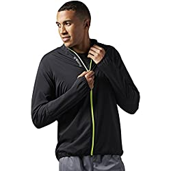 Reebok Jacke Running Essentials梭织夹克外套,男士,(黑色),M