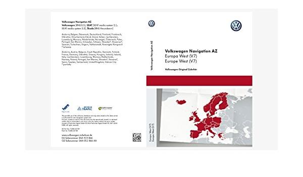 Volkswagen Original Software West Europa 2015 V7 Für Rns 315 Navigationssystem Navigation