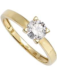 JOBO Damen-Ring 333 Gold Gelbgold 1 Zirkonia