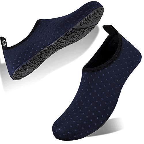 FELOVE Badeschuhe Wasserschuhe Strandschuhe Surfschuhe Barfuß Schuhe,Breathable Schwimmschuhe Hausschuhe Yoga Schuhe für Wassersport für Damen Herren -
