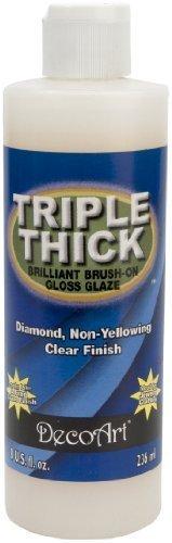 Deco Art TG01-9 Triple Thick Gloss Glaze, 8-Ounce Triple Thick Gloss Glaze