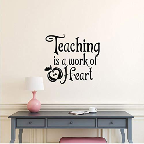 Qbbes 57 * 50 Cm Lehre Ist Eine Arbeit Des Herzens Vinyl Wall Decal Schule Lehrer Wertschätzung Geschenk, Lehrer Geschenke, Lehrer Klassenzimmer Dekor (Zeichen Ein Der Wertschätzung)