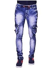 SNAAVE Men's Regular Fit Denim Jogger(Blue,28)