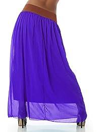 Damen Maxirock, Hüftrock in vielen aktuellen Saisonfarben, Einheitsgröße (34-38)