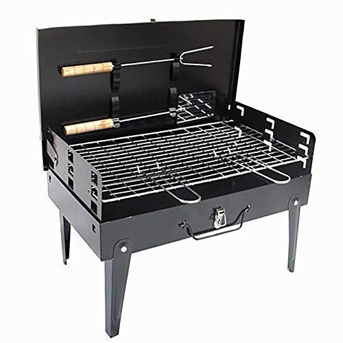 Outdoor BBQ Outdoor Portable Haushaltskohle Portable Box Barbecue/Kebab Grill Gegrillte Holzkohle Wilth Fleisch Gabel und Schaufel -