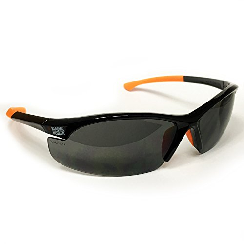 Black & Decker Sicherheit eye-wear Unisex-Brille schwarz & orange Rahmen mit Smoke Objektiv