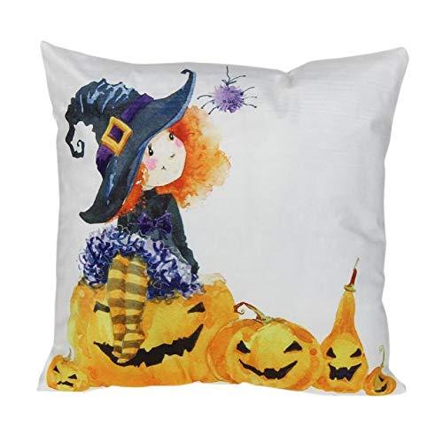 FeiBeauty Halloween Bett Sofa Supplies Platz leinen Umarmen Kissenbezug Kissenbezug Halloween Katze kürbis umgebende Muster Kissen Kissen Kissenbezug (Kissen Nicht ()