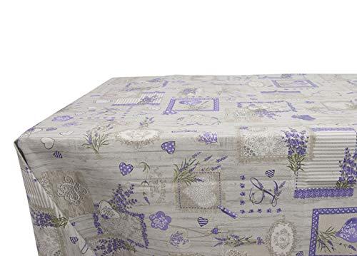 Nappe en coton fantaisie lavande 140x180 Lavande