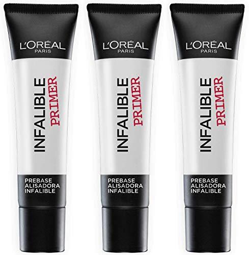 L'Oréal Paris Infaillible Base de Maquillage Primer - 35 ml - Lot de 3