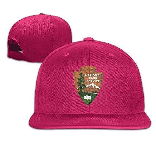 fboylovefor Visor US National Park Service Baseball Caps Snapback Hats Red