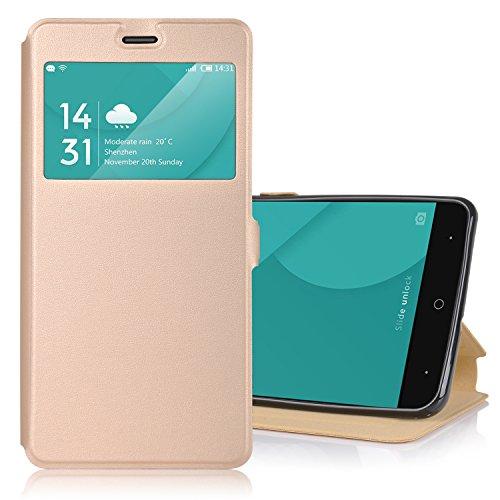 ELTD DOOGEE X9 Pro Case, Flip Cover Case / Hülle / Tasche/ Schutzhülle Für DOOGEE X9 Pro 5.5 Zoll, Gold