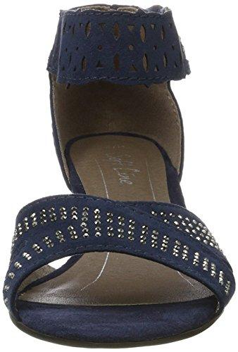 Softline 28362, Sandales Bout Ouvert Femme Bleu (Navy 805)